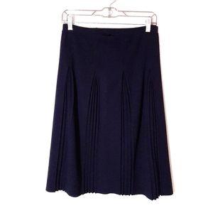 Jones New York Navy Blue Pleated Sweater Skirt